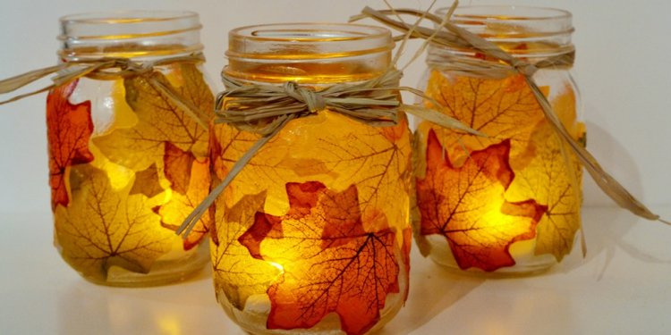 Fall Leaves Mason Jar Crafts