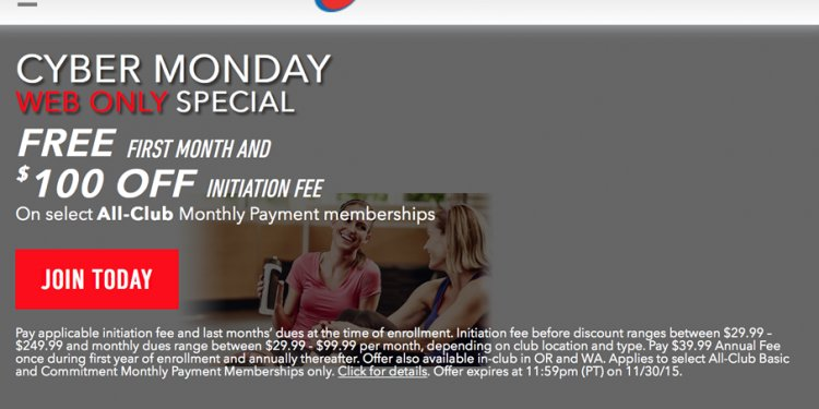 24 Hour Fitness Cyber Monday