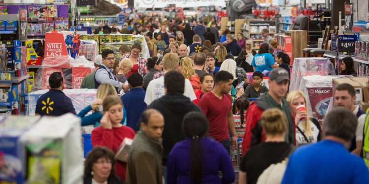 Black Friday Crowds Thin After