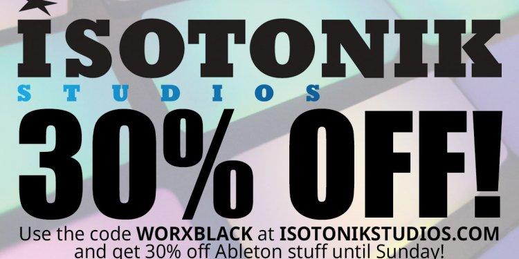Isotonic studios ableton 30%