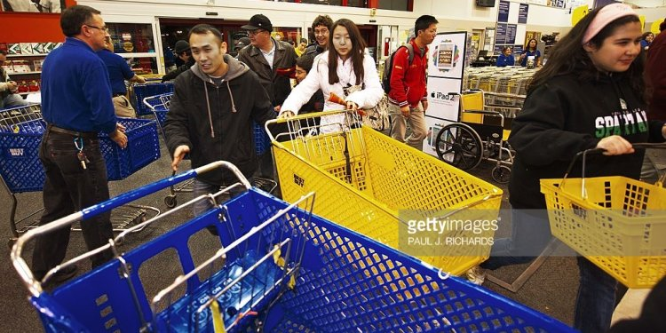 Black Friday shoppers race for