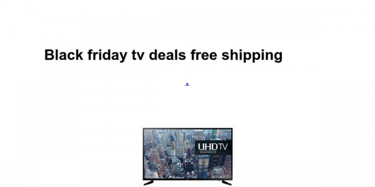 Black friday tv deals free