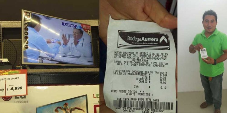 Error de tienda le dio TV LED