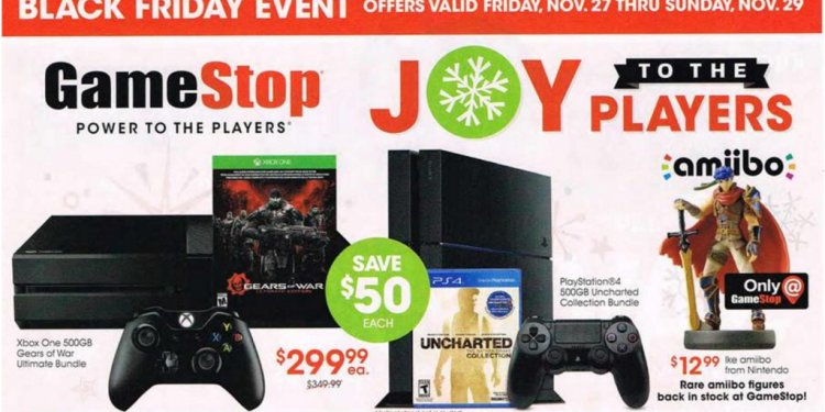 GameStop Black Friday ad leak: