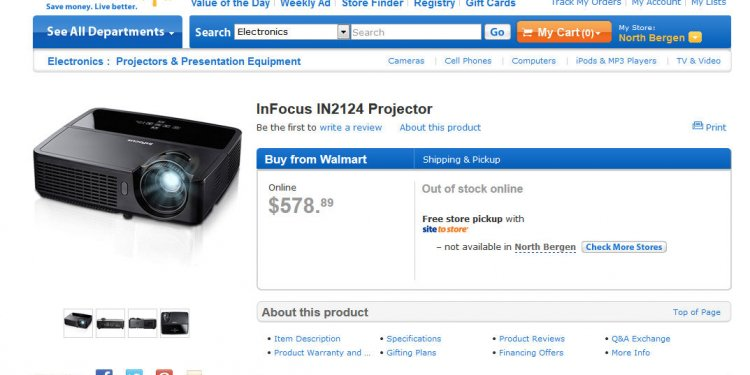 On Walmart s site for just