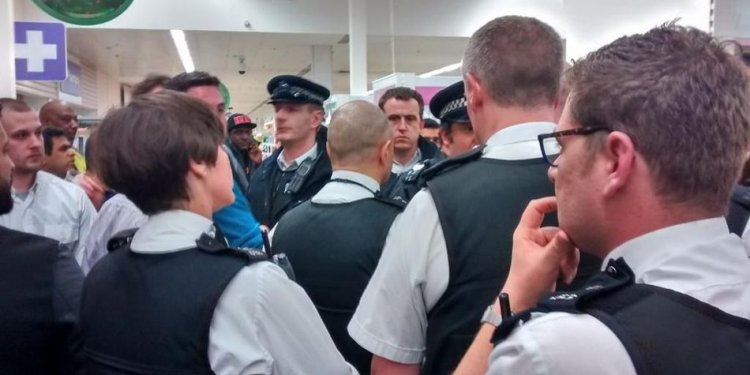 Police attending Black Friday