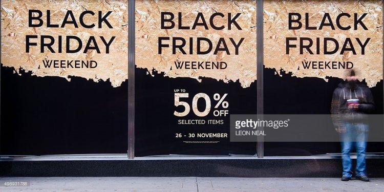 Retail stores display Black