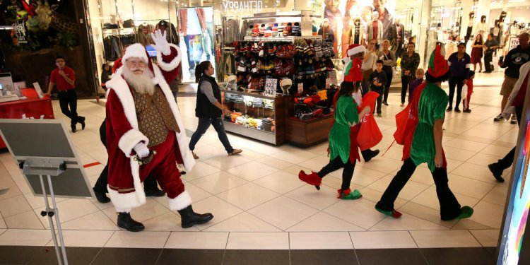 Santa comes to a mall near you