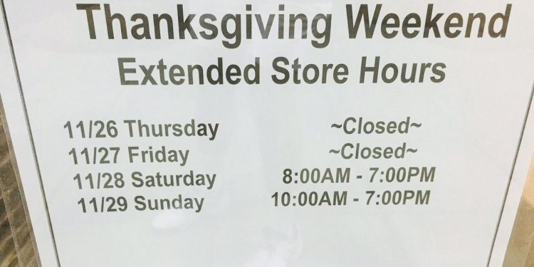 Store, mall hours on Black