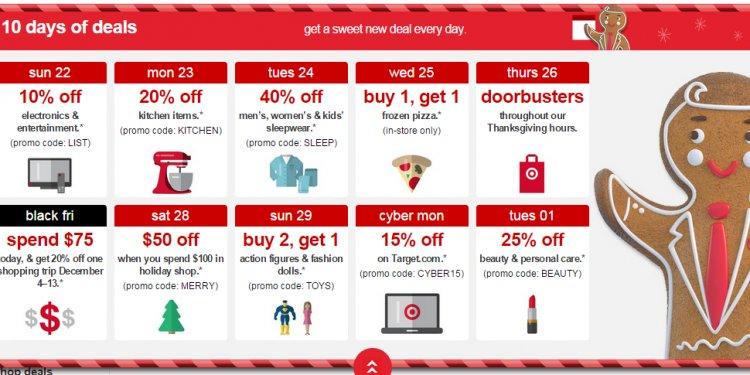 Target 10 days deals