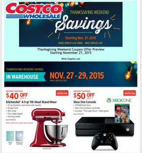 Costco Full Black Friday Ad Leaked