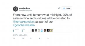 Good's Shop Tweet