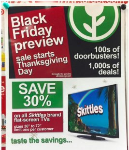 Guy Posts Fake Black Friday advertising At Target And They're Hilarious: check-out Jeff Wysaski obvious plant tumblr