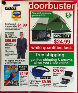 man Posts Fake Black Friday advertising At Target And They're Hilarious: discover Jeff Wysaski apparent plant tumblr