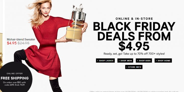H&M Black Friday deals