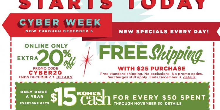 Kohls Black Friday codes