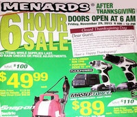 Menards Ebony Friday Discounts 2013 – Masterforce 2-piece Power Drill purchase