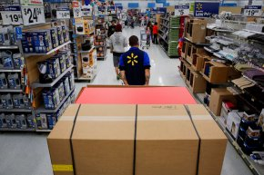 Operations Inside A Wal-Mart Stores Inc. area in front of Black Friday