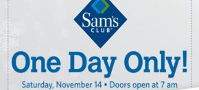 Sam's Club one-day pre-Black Friday sale advertising
