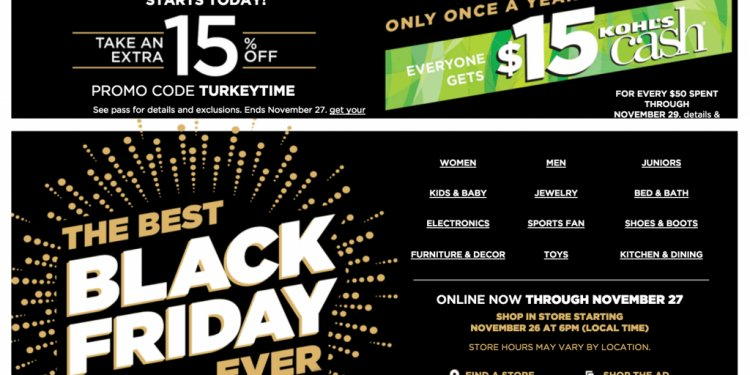 Kohls Black Friday Map