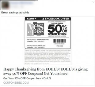 thanksgiving kohls coupon